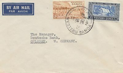 New Zealand: Air Mail Western Samoa to Opladen/Germany