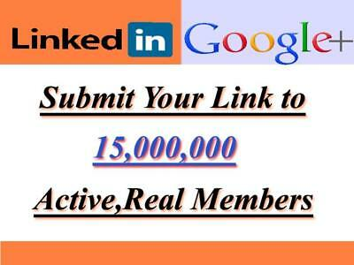 I will promote anything to 15,000,000 LinkedIn and Google Plus members