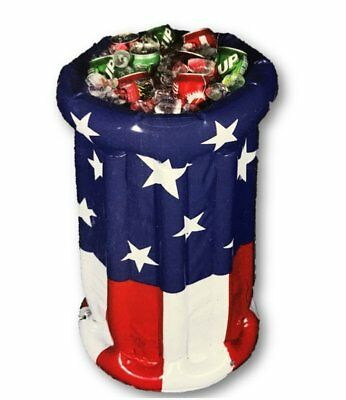 "Inflatable Patriotic Party Cooler Beverage Holder Pedestal - 28"" Tall"