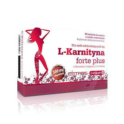 OLIMP L-Carnitine FORTE PLUS Cherry flavor- 80 lozenges LKARNITYNA FORTE PLUS 80