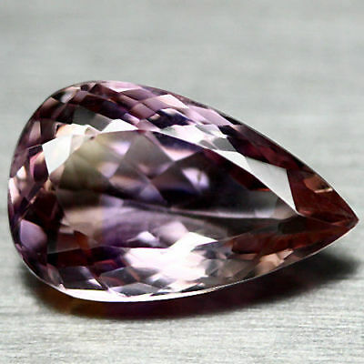 8.73 Ct Aaa Natural Purple & Golden Bolivia Ametrine Pear
