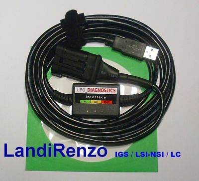 Landi-Renzo IGS,LSI-NSI,LC/LPG GPL CNG Diagnose Kabel USB INTERFACE +Softw./Anl.