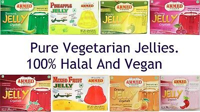 80g Gelatine Free Halal Jelly Sweet Dessert Vegetarian Jellies Vegan Jelly Kids