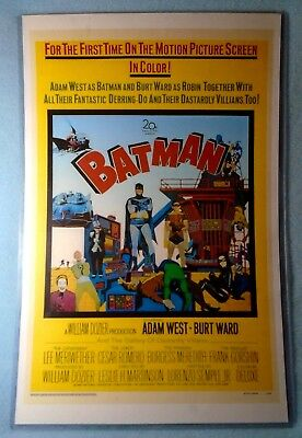 Laminated Batman & Robin Vintage 1966 Movie Poster Reproduction