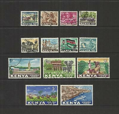 Kenya ~ 1963 Independence Definitives (Used Part Set) #2
