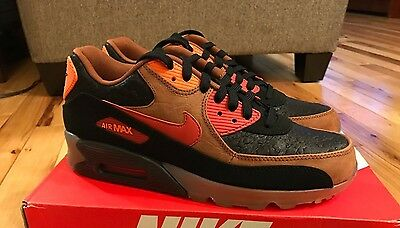 NIKE AIR MAX 90 ICE HW QS Halloween Cognac Orange Glow 717942 006 Men's Size 9.5