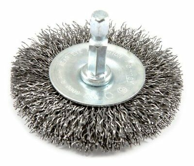 """Forney 72733 Wire Wheel Brush, Coarse Crimped with 1/4-Inch Hex Shank, 2-1/2"""""""