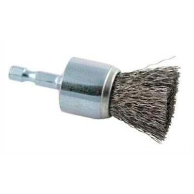 """Forney 72737 Wire End Brush, Coarse Crimped with 1/4-Inch Hex Shank, 1"""""""