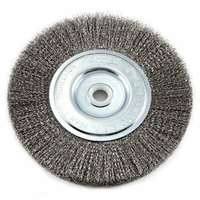 Forney 72747 Wire Bench Wheel Brush, Fine Crimped 6-Inch-by-.008-Inch