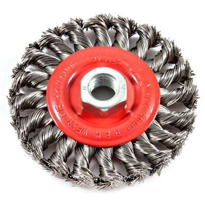 Forney 72759 Wire Wheel Brush, Twist Knot, 4-Inch-by-.020-Inch
