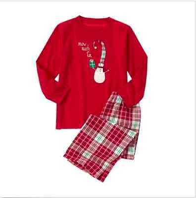 New Gymboree Little Boys Size Xs 4 Gymmies Snow Much Red Plaid Pajama Set