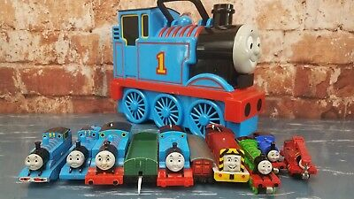 Lot of Thomas The Tank Engine And Friends Trains & Thomas Carrying Case