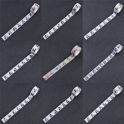 BTS Washi Tape Stickers Stationery Adhesive Labels DIY Scrapbooking Handcrafts