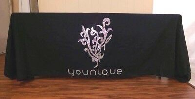 Younique Logo Bling Rhinestone Black Tablecloth