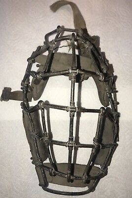 Antique Late 19th Century/Early 20th Century Baseball Catchers Mask