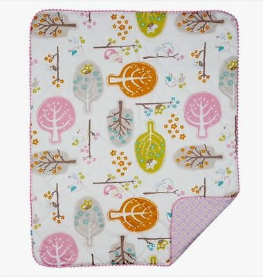 Lolli Living Poppy Seed Love Birds Quilted Comforter Baby Cot Quilt Blanket