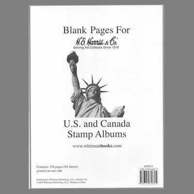 H E Harris Liberty Stamp Album Supplement Blank Pages