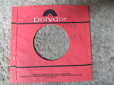 SLEEVE ONLY POLYDOR ORAnge 45 record company sleeve only 45 - $4 89