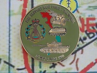 Fire Support Base Coral/balmoral Lapel Badge 30Mm In Dia With Two Pins