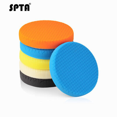 "SPTA 6.5"" (160mm) Compound Polishing Buffer Pads Buffing Pads Set -Select Color"