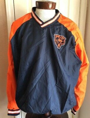 NEW! NFL CHICAGO Bears Logo Men s 2Xl Hoodie Jacket Pull Over Blue ... 905f6f19d