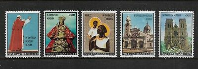 VATICAN CITY 1970 Pope Paul's Visit to Asia & Oceania, mint set of 5, MNH MUH