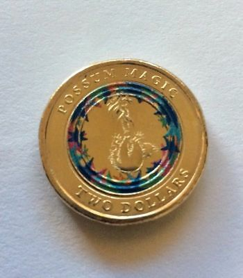 New Rare 2017 Australia Blue Multi-color $2 dollars UNC Coin - Limited Edition
