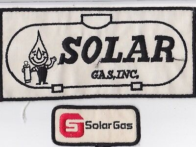 vintage LARGE Solar-Gas Propane back jacket Patch plus small one