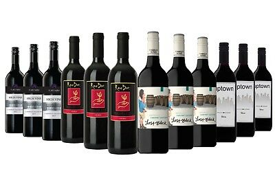 Red Wine Shiraz & Cab Sauv Mixed 12x750ml  Free Shipping RRP$219
