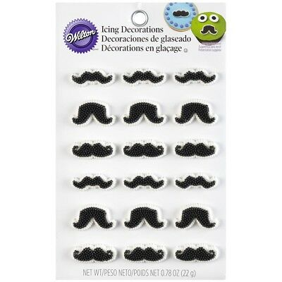 NEW Wilton Icing Decorating Moustache Shapes By Spotlight