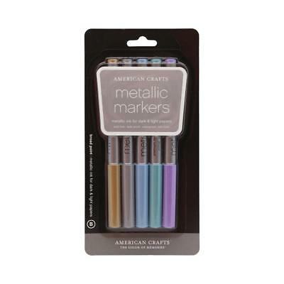 NEW American Crafts Broad Metallic Markers By Spotlight