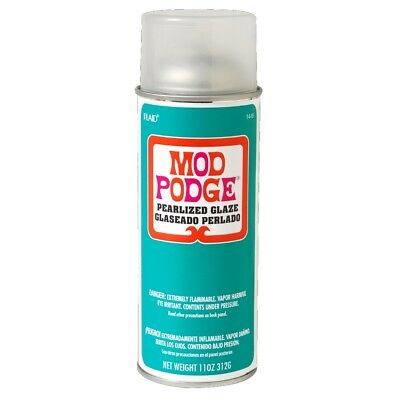NEW Birch Mod Podge Plaid Pearlized Spray Sealer By Spotlight