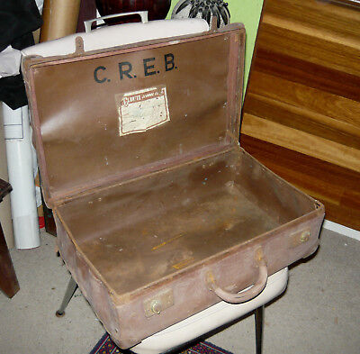Vintage CAIRNS Region Electricity Board Suitcase 1950s-60s Tech Apprentice PORT