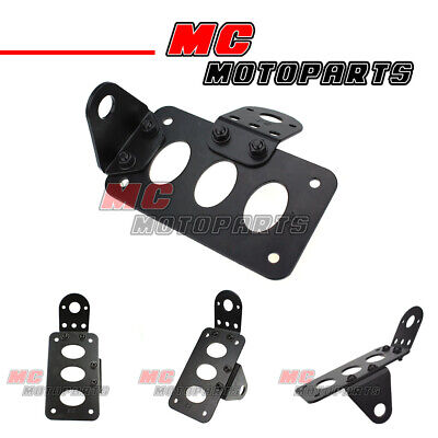 Motorcycles License Number Plate Holder Bar + Mini White Light Adjustable AU