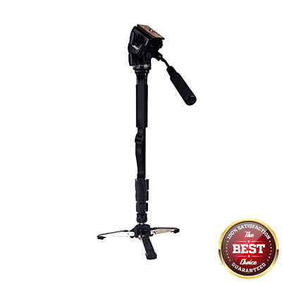 Yunteng VCT-288 Photography Tripod Monopod WIth Fluid Pan Head Quick Release Pl