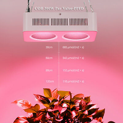 Newest Full Spectrum 300W COB LED Grow Light Lamp For Indoor Plant Growth Bloom