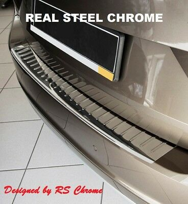 VW Touareg Chrome Rear Bumper Protector Scratch Cover 2003-2007 Stainless Steel
