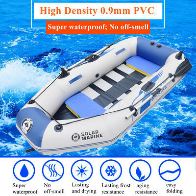 AU 2.3M Inflatable Boat Kayak 3-4 Person Rafting Fishing Dinghy Tender Pontoon