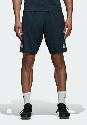 Real Madrid Adidas Pantaloncini Shorts Blu tasche con zip 2018 19 Training