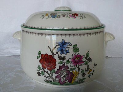 Lovely Spode Chinese Rose Casserole Dish With Lid
