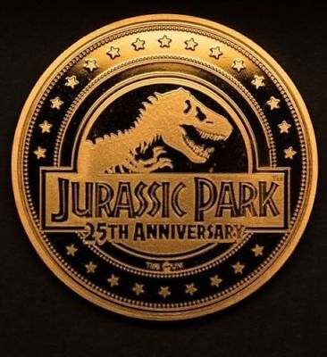 Jurassic Park 25th anniversaryGold Variant Collectors Coin - Limited Edition
