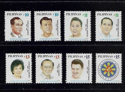 PHILIPPINES 2000 Presidential Office, mint set of 8, MNH MUH