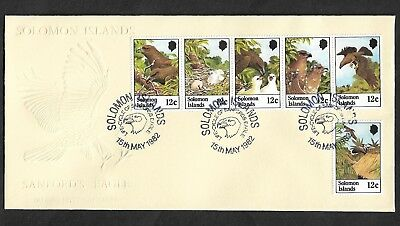 SOLOMON ISLANDS 1982 Life Cycle of Sanford's Eagle, FDC