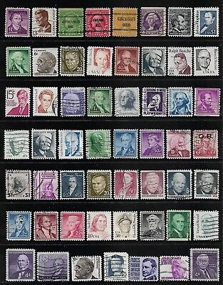 USA mixed collection No.82, Prominent Americans