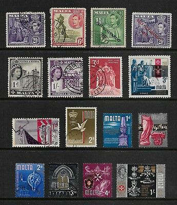 MALTA mixed pre-decimal collection No.4, 1938-1966, used