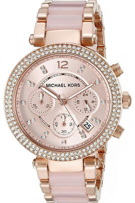 Michael Kors Mk5896 Rose Gold  Ladies Women's Parker Watch 2 Yrs Warranty