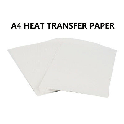 A4 Iron On Inkjet Print Heat Transfer Sublimation Paper Craft T-shirt 100 Sheets