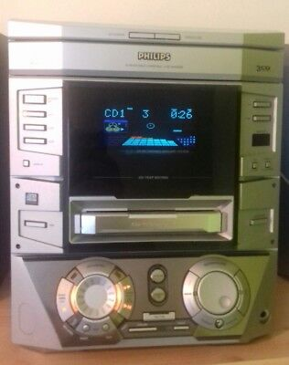 PHILIPS FW-R7 CD Recordable HI-FI System - Built-in CD RECORDER **RARE** 3CD