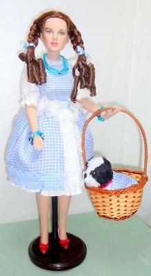 """Tonner Dorothy Gale 15"""" Doll Basket Toto OOAK Outfit Wizard of Oz Ruby Slippers"""