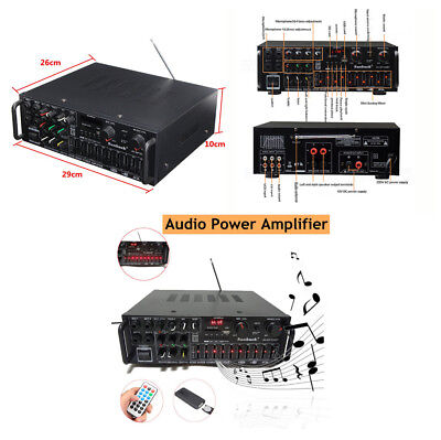 Car SUV Hifi Audio Power Amplifier 326BT+Remote 500W-2000W Bluetooth 2.0 Channel